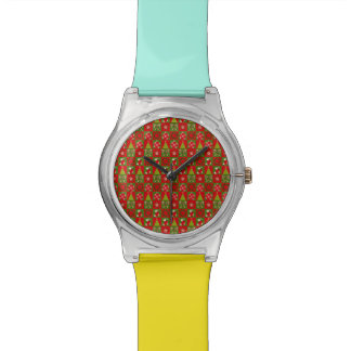 Holiday Decorative Squares Wrist Watches