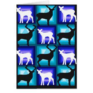 Holiday deer doe greeting card