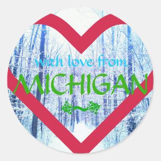 holiday design michigan sticker