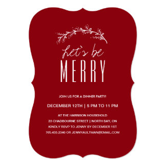 Holiday Dinner party Invitation with Photo
