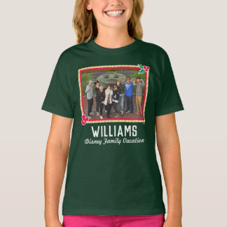 Holiday Disney Vacation Family Photo T-Shirt