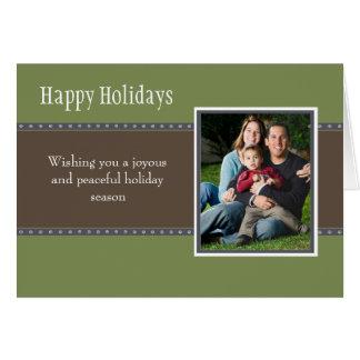 Holiday Dots Folded Card- green/navy