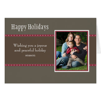 Holiday Dots Folded Card-stone/wine