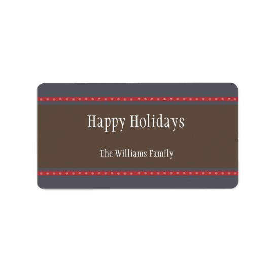 Holiday Dots Gift Tag-navy/red Label