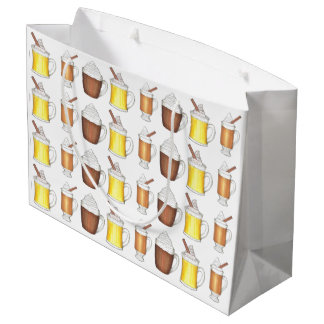 Holiday Drinks Egg Nog Cocoa Buttered Rum Gift Bag