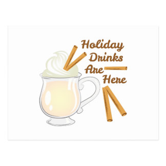 Holiday Drinks Postcard