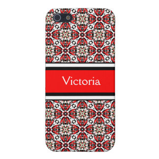 Holiday Eastern European Folk Art Damask Pattern Cover For iPhone 5/5S