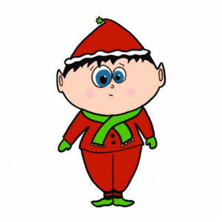 Holiday Elf Standing Photo Sculpture