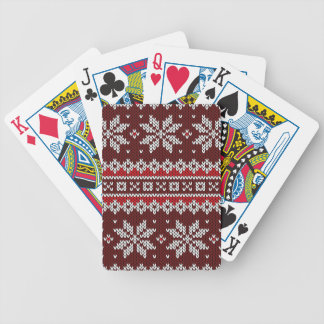 Holiday Fair Isle Knit Pattern Bicycle Playing Cards