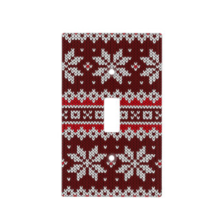 Holiday Fair Isle Knit Pattern Light Switch Cover
