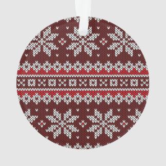 Holiday Fair Isle Knit Pattern Ornament