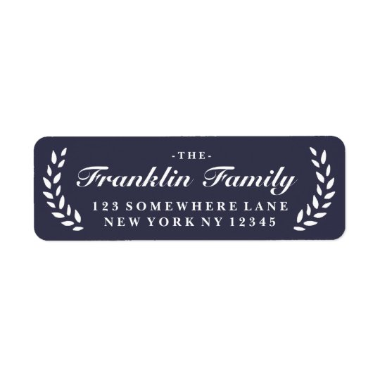 Holiday Festive Laurel Return Address Label