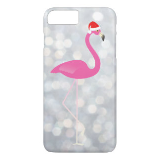 Holiday Flamingo iPhone 7 on silver lights iPhone 7 Plus Case