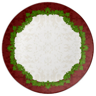 Holiday Fleur and Vines Porcelain Plate