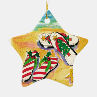 Holiday flip-flops - star ornament