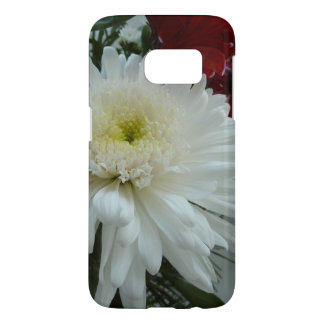 Holiday Flowers and Snow I Christmas Floral Samsung Galaxy S7 Case