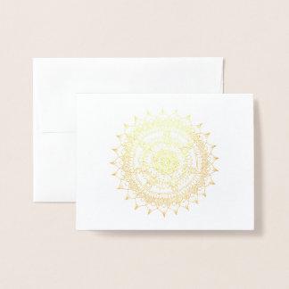 Holiday Foil Mandala Foil Card