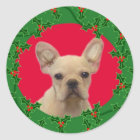 Holiday French Bulldog sticker