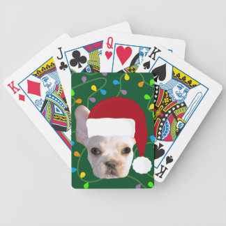 Holiday Frenchie Bicycle Playing Cards