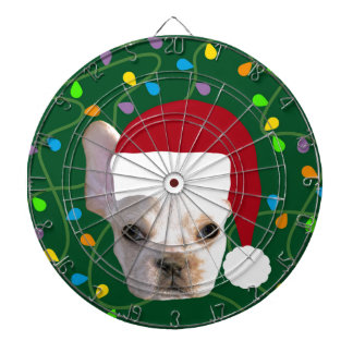 Holiday Frenchie Dartboard