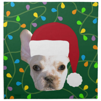 Holiday Frenchie Napkin