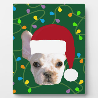 Holiday Frenchie Plaque
