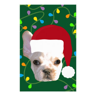 Holiday Frenchie Stationery Design