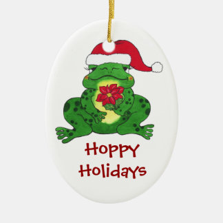 Holiday Frog - Customizable Tree Ornament