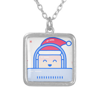 Holiday Gamer Silver Plated Necklace