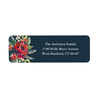Holiday Garden Address Labels