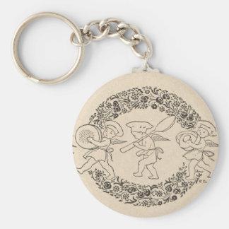 Holiday Garland and cherubs Keychain