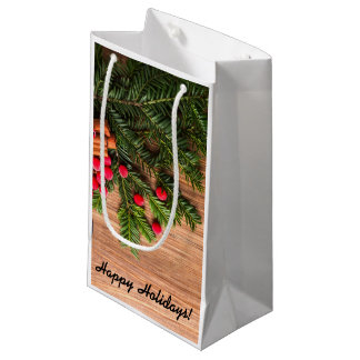 Holiday Gift Bag - Pine & Berries