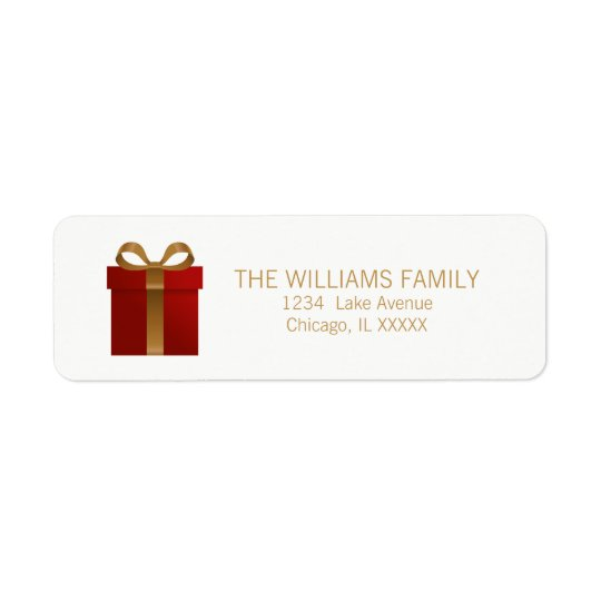 Holiday Gift Christmas Return Address Labels