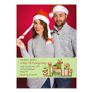 Holiday Gift Exchange Party Photo Invitation