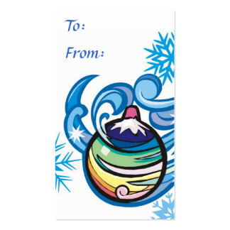 Holiday Gift Tag Business Card