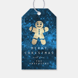 Holiday Gift Tag To Gold Gingerbread Blue Spark