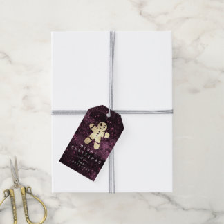 Holiday Gift Tag To Gold Gingerbread Burgund Spark