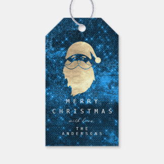 Holiday Gift Tag To Gold Snowman Blue Spark