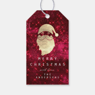 Holiday Gift Tag To Gold Snowman Red Spark