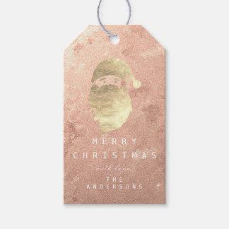 Holiday Gift Tag To Golden Snowman Blush Rose