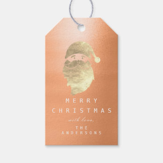 Holiday Gift Tag To Golden Snowman Peach Coral