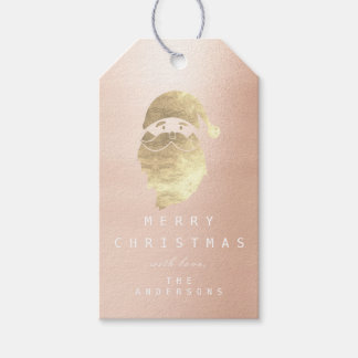 Holiday Gift Tag To Golden Snowman Skinny Pink Ros