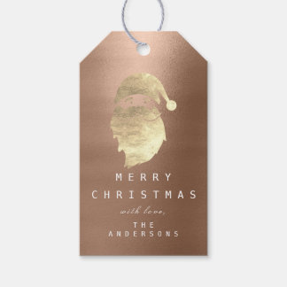 Holiday Gift Tag To Golden Snowman Skinny Rose
