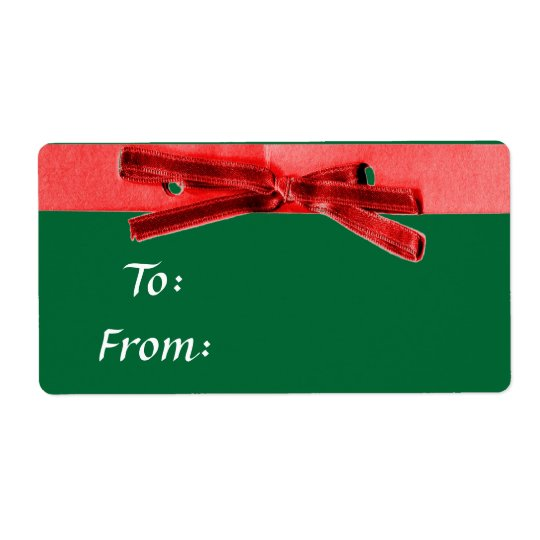 Holiday Gift Tags Labels With Bow