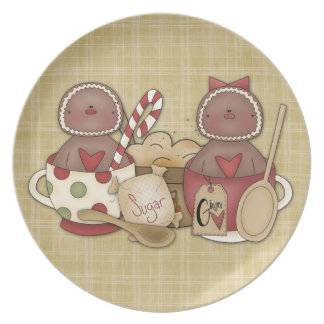 Holiday Gingerbread Cookies Plate