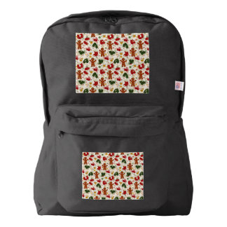 Holiday Gingerbread Pattern Backpack