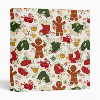 Holiday Gingerbread Pattern Binders