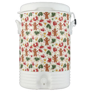 Holiday Gingerbread Pattern Cooler
