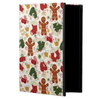 Holiday Gingerbread Pattern Cover For iPad Air