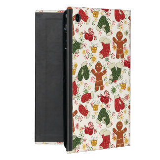 Holiday Gingerbread Pattern Cover For iPad Mini